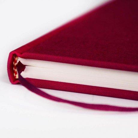 """Semikolon Classic Notizbuch """"M"""" Leinen burgund 3"""