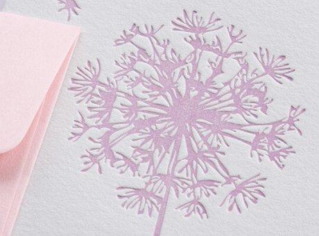 Grußkarte Löwenzahn rosa 3