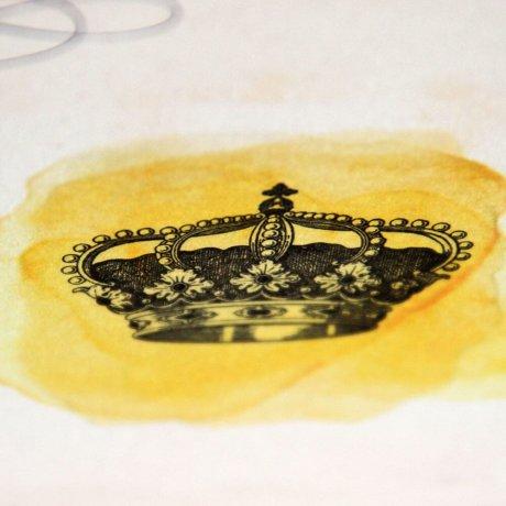 Grußkarte Krone 3
