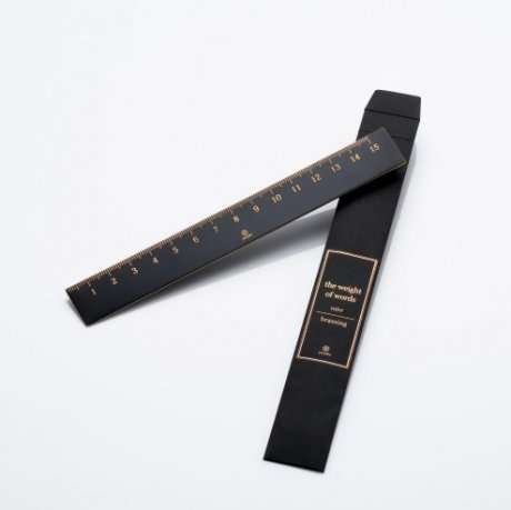 ystudio Lineal Messing Länge 15 cm schwarz beschichtet 3