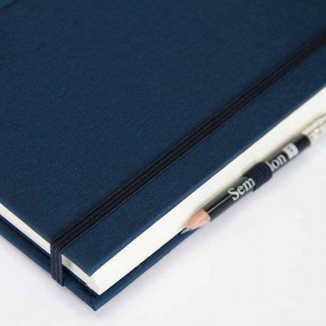 """Semikolon Grand Voyage Notizbuch """"M"""" Leinen dunkelblau 3"""