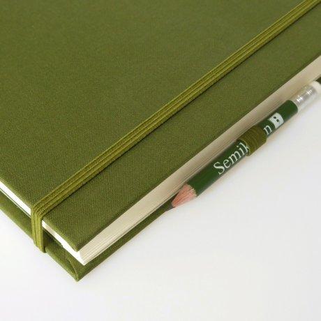 """Semikolon Grand Voyage Notizbuch """"M"""" Leinen dunkelgrün 3"""