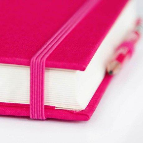 """Semikolon Grand Voyage Notizbuch """"M"""" Leinen pink 3"""