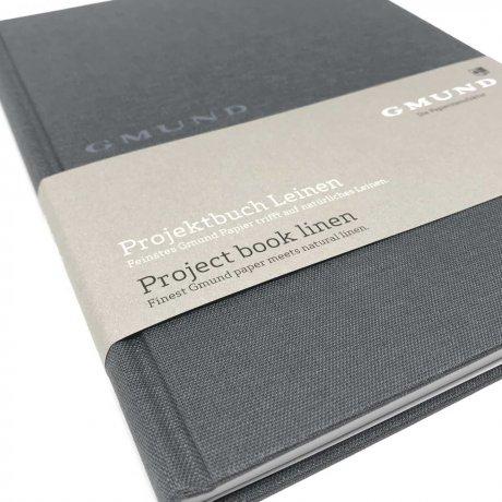 Gmund Projektbuch Leinen graphite A4 3