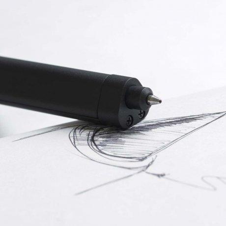 HMM Slide | Kugelschreiber mit Lineal aus Aluminium schwarz 3