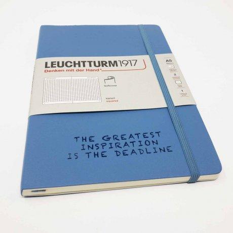 "Leuchtturm1917 Notizbuch Softcover ""M"" denim dotted 3"