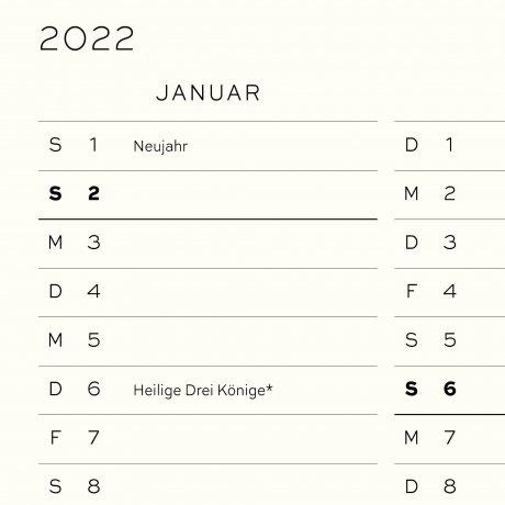 Leuchtturm 1917 Tageskalender 2022 Hardcover Deutsch stone blue A5 3