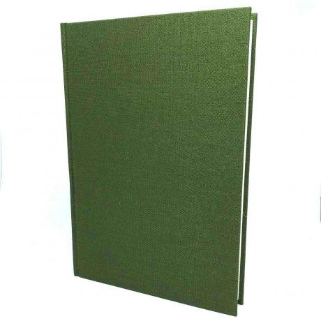 "Semikolon Classic Notizbuch ""S"" Leinen dunkelgrün 3"