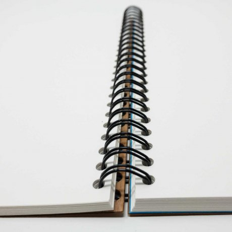 Ringbuch mit echtem Kirschholz in A6, blanko 3