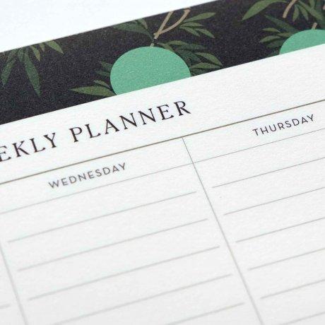 Weekly Planner - Wochenübersicht mit Bambusblättern von Haferkorn & Sauerbrey 3