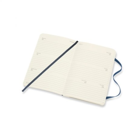 "MOLESKINE® Wochenkalender 2021 ""S"" horizontal blau Softcover 3"