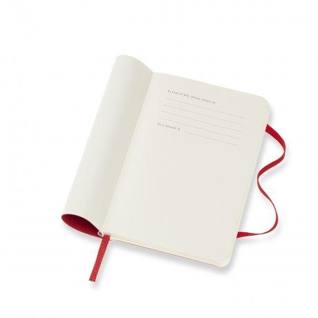 "MOLESKINE® Wochenkalender 2021 ""S"" horizontal rot Softcover 3"