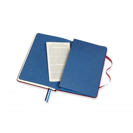 MOLESKINE® Two-Go Notizbuch Leineneinband rot 3
