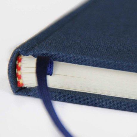 "Semikolon Classic Notizbuch ""S"" Leinen dunkelblau 3"