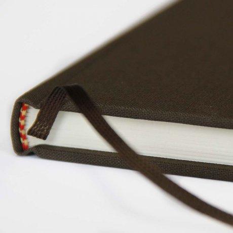 "Semikolon Classic Notizbuch ""S"" Leinen dunkelbraun 3"