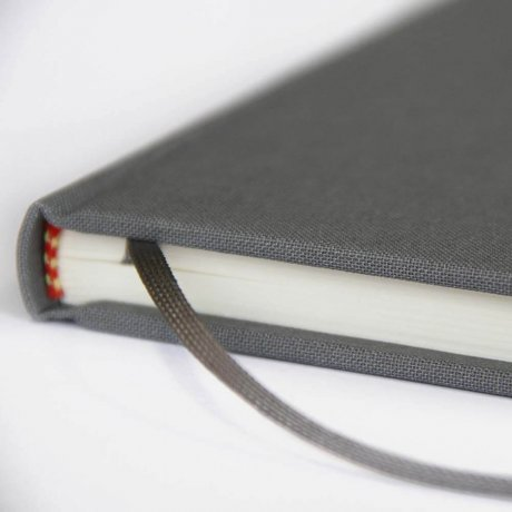 "Semikolon Classic Notizbuch ""M"" Leinen grau 3"