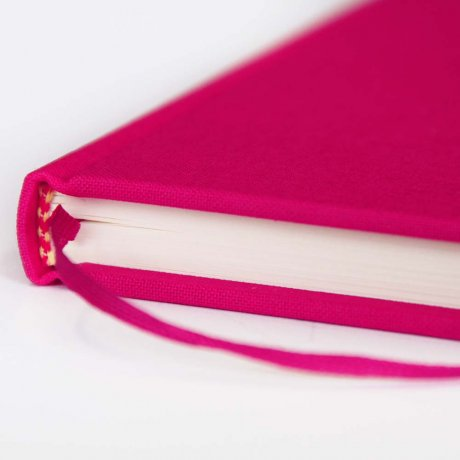 "Semikolon Classic Notizbuch ""S"" Leinen pink 3"