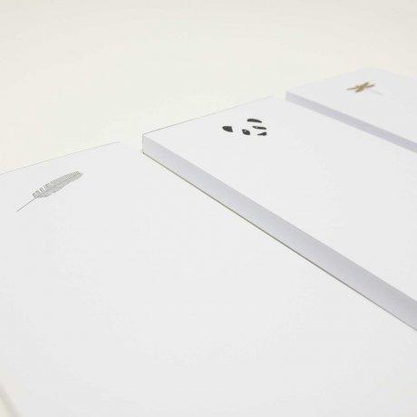 Kleiner Notizblock mit geprägtem Panda | Von Le Typographe 3