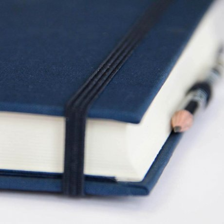 """Semikolon Grand Voyage Notizbuch """"M"""" Leinen dunkelblau 4"""