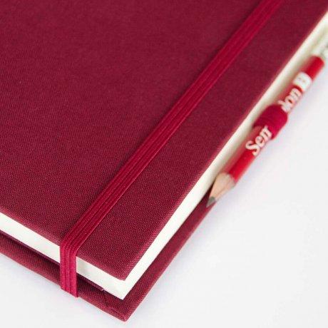 """Semikolon Grand Voyage Notizbuch """"M"""" Leinen dunkelrot 4"""
