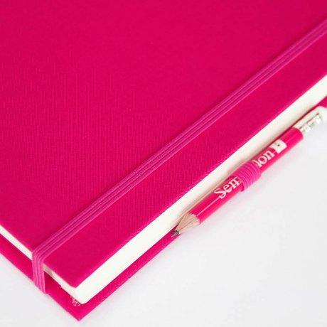 """Semikolon Grand Voyage Notizbuch """"M"""" Leinen pink 4"""