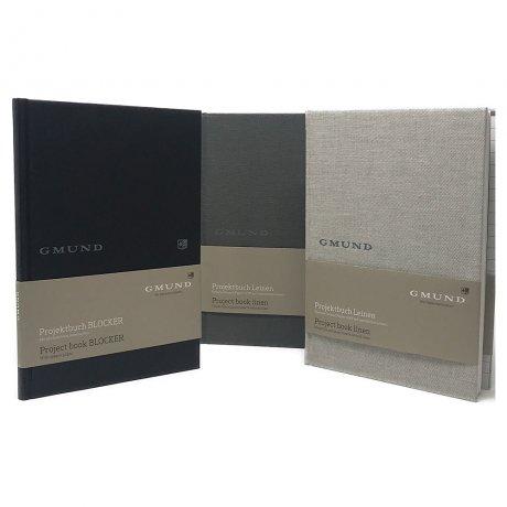 Gmund Projektbuch Leinen graphite A4 4