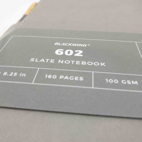 Notizbuch Blackwing 602 Slate Notebook blanko mit Bleistift 602 4