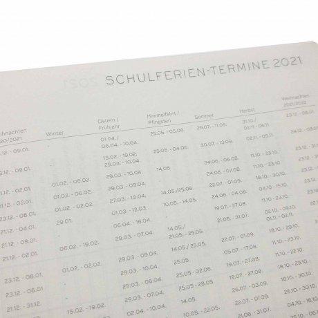 Leuchtturm 1917 Wochenkalender/Notizbuch 2021 Deutsch puder 4