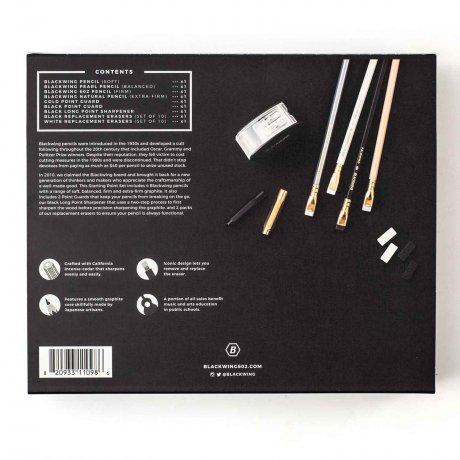 Blackwing Starting Point Set mit 4 Bleistiften - Spitzer - Radiergummis - Point Guards 4