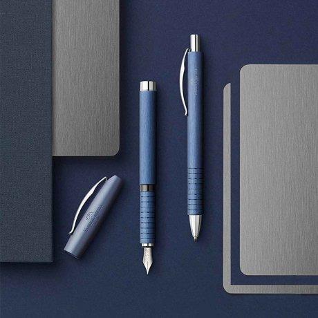 Faber-Castell Kugelschreiber Essentio Aluminium blau 4
