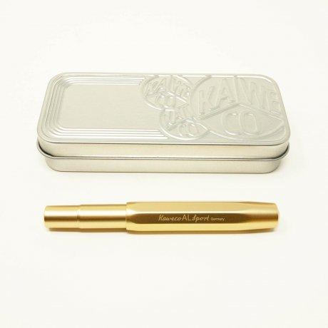 Kaweco Al SPORT Füller Gold Edition | Feder M | klassischer achteckiger Füllhalter für Patronen 4