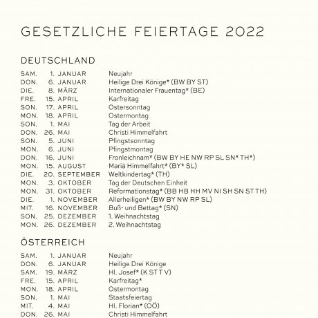 Leuchtturm 1917 Tageskalender 2022 Hardcover Deutsch stone blue A5 4