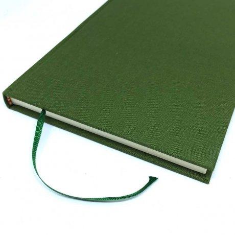 "Semikolon Classic Notizbuch ""S"" Leinen dunkelgrün 4"