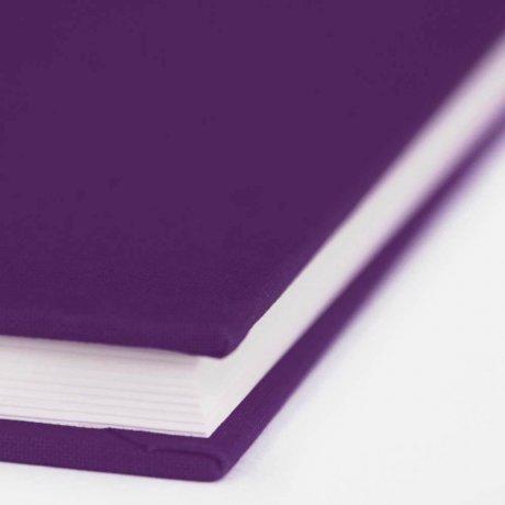 "Semikolon Classic Notizbuch ""M"" Leinen lila 4"