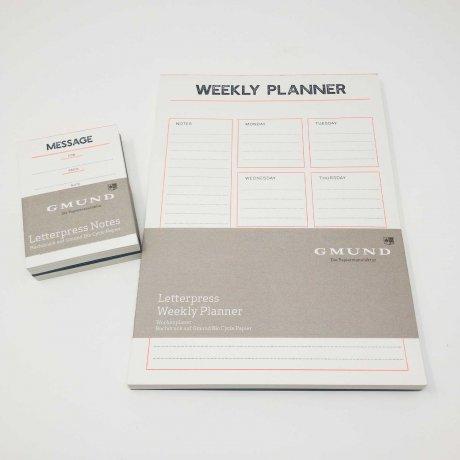Gmund Letterpress Weekly Planner 5