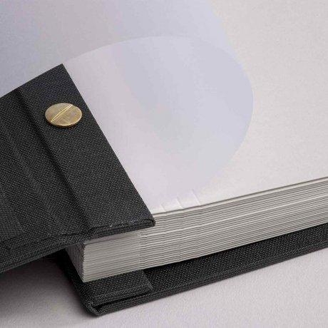 Gmund Papier Fotoalbum Leinen graphite 5